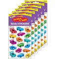 Cool Cars Leather Stinky Stickers 68 Per Pack, 6 Packs