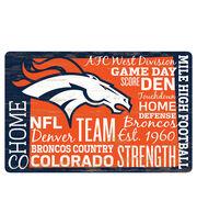 Denver Broncos Wordage Sign, , hi-res