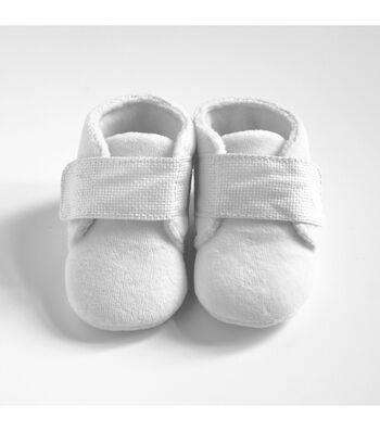 Charles Craft 17''x10'' Counted Cross Stitch Kit-Baby Slippers