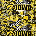 University of Iowa Hawkeyes Cotton Fabric-Pop Art
