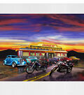 Novelty Cotton Fabric Panel 44\u0022-At The Diner