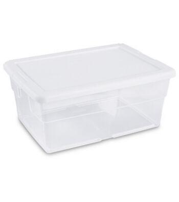 Sterilite 16 Qt Storage Box-White