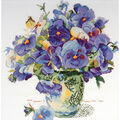 14x14 14ct-pansy Floral Ccx