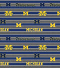 University of Michigan Wolverines Cotton Fabric 44\u0022-Stripe