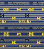 "University of Michigan Wolverines Cotton Fabric 44""-Stripe, , hi-res"