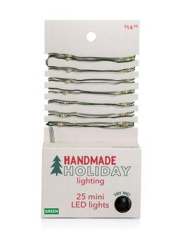 Handmade Holiday Christmas Lighting 25 ct LED Green Mini Light Strand
