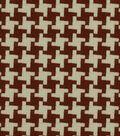 Robert Allen @ Home Multi-Purpose Decor Fabric 55\u0022-Square Pegs Cherry