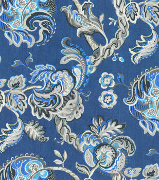 "Waverly Multi-Purpose Decor Fabric 56""-Summer Canvas/Indigo"