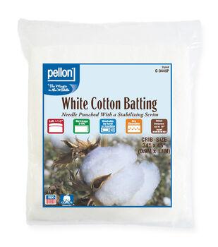 """Pellon White Cotton Batting-34""""x45"""""""