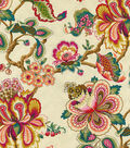 HGTV Home Lightweight Decor Fabric 54\u0022-Bespoke Blossoms/Sunset