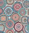 Snuggle Flannel Fabric 42\u0027\u0027-Wildflower Medallions