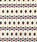 Doodles Juvenile Apparel Fabric 57\u0022-Foiled Tribal Interlock