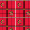 University of Maryland Terrapins Flannel Fabric 42\u0022-Plaid