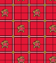 """University of Maryland Terrapins Flannel Fabric 42""""-Plaid, , hi-res"""