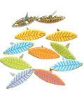 Eyelet Outlet Shape Brads-Leaves Pastel