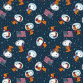 Peanuts Cotton Fabric-Snoopy Space