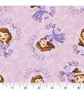 Disney Sofia the First Cotton Fabric -Tossed
