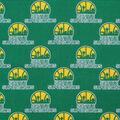 Seattle Supersonics Cotton Fabric-Allover