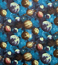 Glow in the Dark Flannel Fabric-Planets Glow