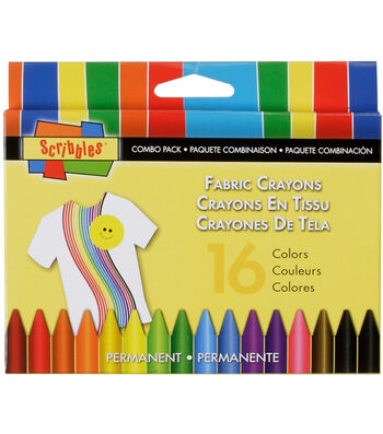 Scribbles Fabric Crayons 16/Pkg