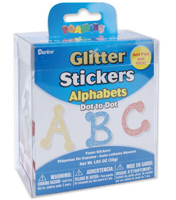 Darice Glitter Foam Stickers-Dot Alphabet
