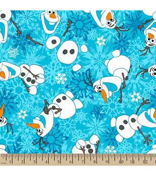 Disney Frozen Fleece Fabric-Olaf Snowflake