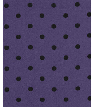 Holiday Showcase Halloween Cotton Fabric -Black Dots on Purple