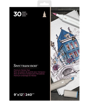 Spectrum Noir Alcohol Marker 9x12 Paper Pad-30 Sheets