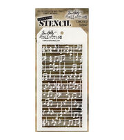 Stampers Anonymous Tim Holtz 4.13''x8.5'' Layered Stencil-Concerto, , hi-res