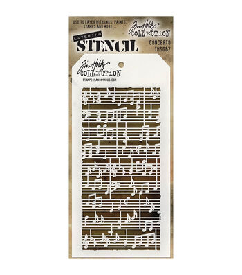 Stampers Anonymous Tim Holtz 4.13''x8.5'' Layered Stencil-Concerto