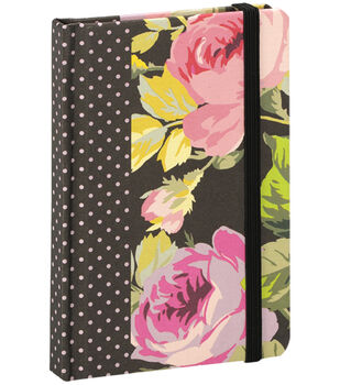 Anna Griffin Grace Black Rnd Corner Notebook