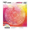 Carabelle Studio Art Printing 6.5\u0027\u0027 Round Rubber Texture Plate-Shingle