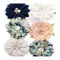 Prima Marketing Georgia Blues 6 pk 2\u0027\u0027 Fabric Flowers-Augusta