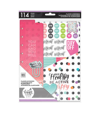 The Happy Planner Girl Classic Accessory Pack-Healthy Hero