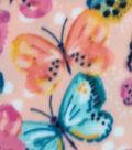 Anti-Pill Fleece Fabric -Butterflies