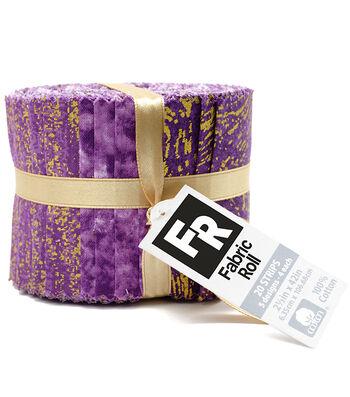 "Quilt Fabric Roll 2.5""-Purple Metallic"