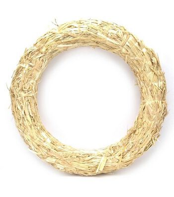 "Floracraft Straw Wreath-18"""