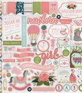 Rock-A-Bye Baby Girl Cardstock Stickers 12\u0022X12\u0022