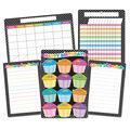 Smart Poly B&W Polka Dots Classroom Charts 13\u0022x19\u0022 Set of 6