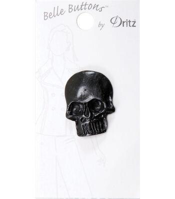 Dritz 30mm Belle Button Metal Large Skull Black