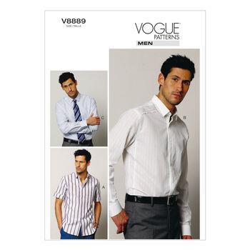 Vogue Patterns Mens Top-V8889