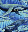 Anti-Pill Fleece Fabric -Ocean Dolphins