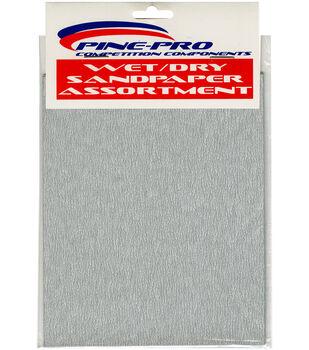 "Pine Car Derby 4""X5.5"" Wet/Dry Sandpaper Assortment"