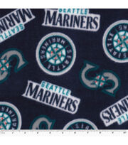 Seattle Mariners Fleece Fabric -Tossed, , hi-res