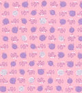 1930\u0027s Premium Cotton Print Fabric 43\u0027\u0027-Kitty & Yarn Ball on Pink