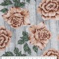 Luxe Fleece Fabric-Rose On Wood