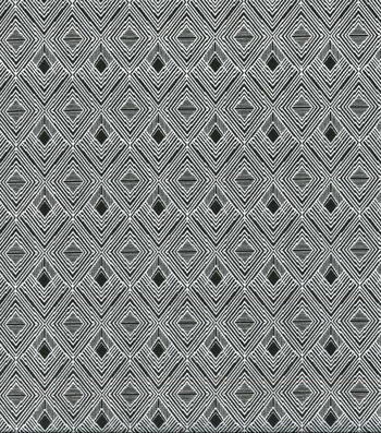 Wide Flannel Fabric-White Diamonds on Black