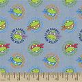 Teenage Mutant Ninja Turtles Chambray Fabric -Tossed