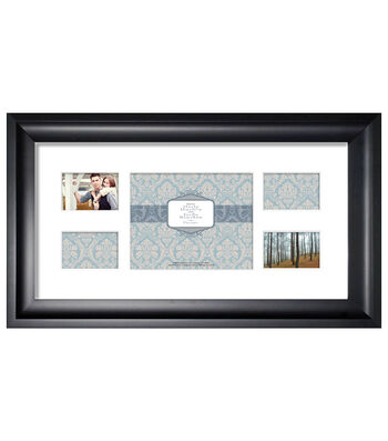 Wall Frame 12X24 5 Photos-Peyton Black