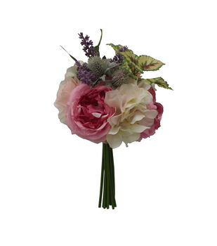 Fresh Picked Spring 12.5'' Pink Rose, Hydrangea & Succulent Bouquet